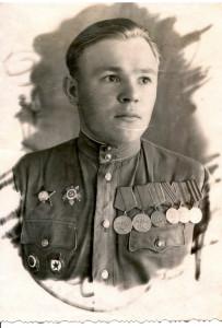 Бывший разведчик Зубов Н.И., Германия, Гюстров, 1946г