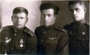 Командование 258-го танкового полка после взятия Риги, октябрь 1944