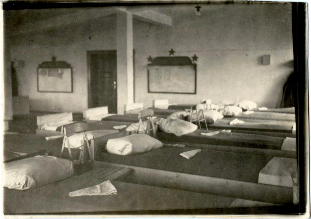 Помещение казармы в Гюстрове, Германия, 1945 год